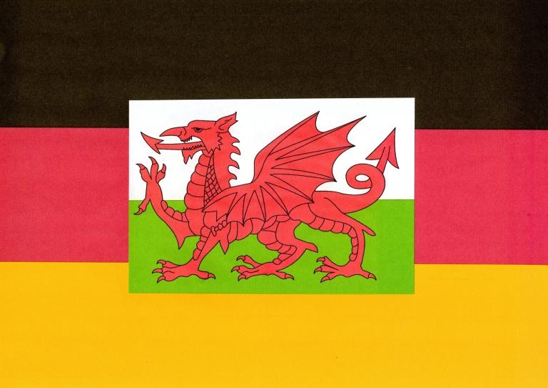Flagge Wales Deutschland